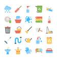 flat icon set of trash disposal vector image vector image