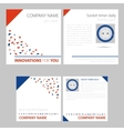 Four squre card phytolight vector image vector image