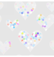 Funny dots on the hearts vector image vector image