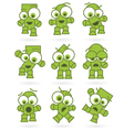 Funny green cartoons vector | Price: 1 Credit (USD $1)