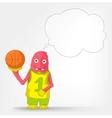 Funny Monster Basketball vector image