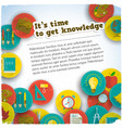 get knowledge composition vector image vector image