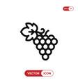 grapes icon vector image vector image