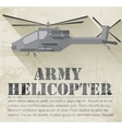 grunge military helicopter icon background concept vector image