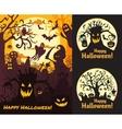 Halloween set posters vector image