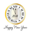 happy new year metallic clock vector image vector image