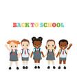 happy school kids happy school kids vector image vector image