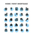 homerentmortage icons set vector image