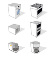 household appliances set vector image vector image