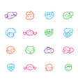 kids icon set happy children school elements vector image vector image