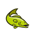 Largemouth Bass Jumping Cartoon vector image vector image