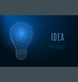 light bulb made points and lines polygonal vector image