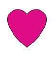 love heart passion romantic cute icon vector image vector image