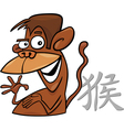 monkey chinese horoscope sign vector image vector image