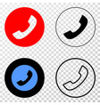 phone call eps icon with contour version vector image vector image
