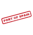 Port Of Spain Rubber Stamp vector image vector image