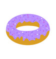 purple donut vector image