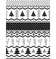 seamless geometric winter pattern from vector image