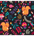 Seamless pattern with cartoon characters vector image vector image