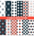 seamless vintage patterns set vector image vector image