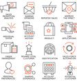 Set of icons related to business management - 14 vector image vector image