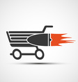 Shopping cart Stock vector image vector image