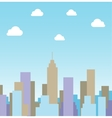Silhouette cityscape background vector image vector image