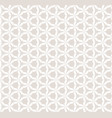 subtle white and beige seamless geometric pattern vector image vector image