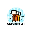 Thin line Oktoberfest vector image vector image