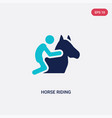 two color horse riding icon from activity and vector image vector image