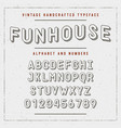 vintage handcrafted font sans serif rounded vector image