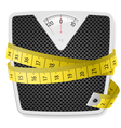 Weights tape measure vector