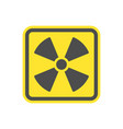 yellow symbol flat icon for websites vector image