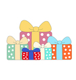 Colorful gift box symbol set isolated on white vector image
