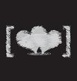 heart sketch design vector image