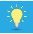 Light bulb creative idea vector image