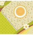 Abstract banner retro card vector image