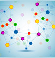 abstract hexagonal molecular structure of dna vector image vector image