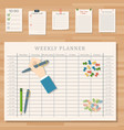 agenda list business paper clipboard in vector image vector image