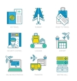 Airport Linear Elements Set vector image