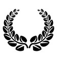 award wreath icon simple style vector image