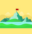 beautiful summer mountain landscape the river vector image