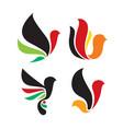 bird logo icon design set vector image