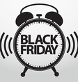 Black friday alarm clock icon vector image vector image
