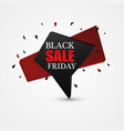 black friday sale abstract background vector image
