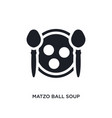 black matzo ball soup isolated icon simple vector image vector image