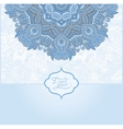blue colour islamic vintage floral pattern vector image