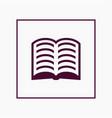 book icon simple vector image vector image