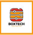 box tech icon square media signal logotype vector image