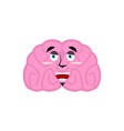 brain happy emotion human brains emoji marry vector image vector image